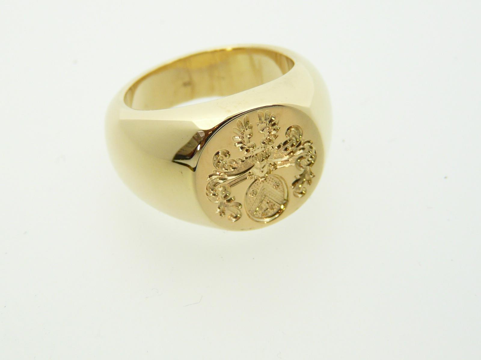 massief gouden heren ring