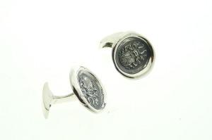 manchetknoop zilver van lakzegell